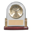 Woodmark GP-1045 Woodmark Arch Glass & Piano Finish Desk Clock