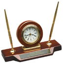 GP-233 Woodmark Stinson Desktop Clock & Pen Set - #1 Seller