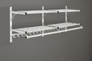 Glaro Modular, Rugged All Aluminum Clothing Racks 2 Shelves w/ Hook Strip 90