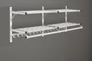 Glaro Modular, Rugged All Aluminum Clothing Racks 2 Shelves w/ Hook Strip 96