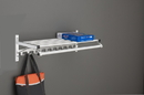Glaro Modular, Rugged All Aluminum Clothing Racks 1 Shelf w/ Hook Strip & Hanger Bar 72