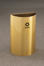 Glaro RO1899 Recycling Receptacle - Value Series - Half Round Collection - Recyclepro Open Top