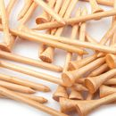 50 PCS/PACK, GOGO Golf 2 3/4 inch (7cm) Wooden Tees, Golf Accessories