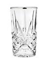 Godinger 25437 Dublin Set of 4 Highball Glasses - Platinum