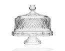 Godinger 25763 Dublin Footed Cake Plate with Dome