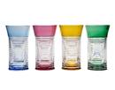 Godinger 38002 Spiral Colored Highball Glasses