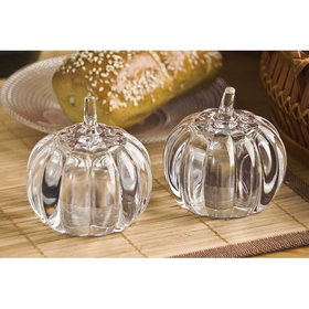 Godinger 028199042991 Pumpkin Crystal Salt & Pepper, Price/each