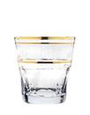 Godinger 44920 Somerset Goldband 11oz Double Old Fashioned Glass