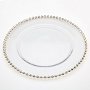 "(4 Pcs @ $28 Pcs) Godinger 48439 Crystal Pearls 13"" Charger Gold"