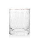 Godinger 48551 Seabreeze Gold Set of 4 Double Old Fashioned Glasses