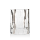 (4 Pcs @ $38.92 Pcs) Godinger 48553 Seabreeze Platinum Set of 4 Double Old Fashioned Glasses