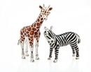 Godinger 548 Giraffe & Zebra Salt & Pepper Set