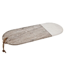 Godinger 61849 Two Tone Marble Oval Board