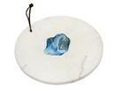 Godinger 61882 Round Marble Board Agate Centr