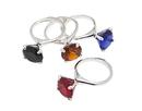 Godinger 67091 Diamond Ring Napkin Rings - Colored