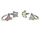 Godinger 8788 Butterfly Napkin Rings - Set of 4