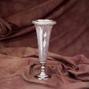 Godinger 9069 Antique Silver Plated and Crackled Glass Vase