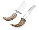 Godinger 91562 Natural Horn Cake Knife/server