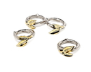Godinger 9482 Leaf Design Napkin Rings