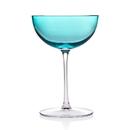 Godinger 99951 Rondo S4 Sea Blue Champagne Coupe 8oz
