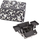 Sunrise C0005PVBK Black Floral Cosmetic Case - C0005