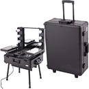 Sunrise C6010PPAB Black Studio Makeup Case W/Light - C6010