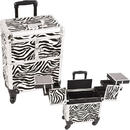 Sunrise E6304ZBWH Zebra White  Rolling Beauty Case - E6304