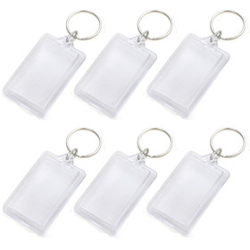 GOGO 25pcs Acrylic Photo Keychains, 1-5/16 x 2 Inches, Promotion Gift Idea