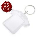 GOGO 25 PCS Acrylic Photo Keychains, 2-3/16 x 2 Inches Shirt Shape, Promotion Gift Idea