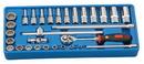 "Genius Tools 30PC 3/8"" Dr. SAE Deep Hand Socket Set - GS-330S"
