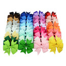 GOGO 40pcs Girls Kids Children Baby Ribbon Alligator Hair Bows Hair Clips Grosgrain Headbands 3.5 Inch