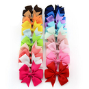 GOGO 20pcs Girls Kids Children Baby Hair Bows Alligator Hair Clips Grosgrain Ribbon Headbands 3.5 Inches