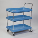 Health Care Logistics - Metro Deep Ledge Utility Cart  3 Shelf