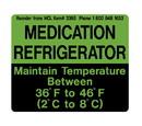 Health Care Logistics - Refrigeration Label