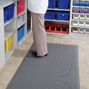 Health Care Logistics - Ribbed Anti Fatigue Mat 3x2x3/8  Gray