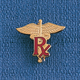 Health Care Logistics - Rx Caduceus Lapel Pin