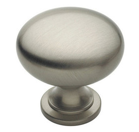 Amerock Knob 1-1/4in Dia SATIN NICKEL, Price/EA