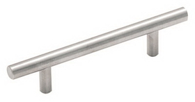 Amerock Bar Pull 128mm Carbon STERLING NICKEL, Price/EA