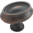 Knob 1-1/2in Oval OIL RUBBED BRONZE
