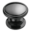 Knob 1-1/4in BLACK NICKEL METAL