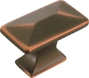 Belwith P2150-OBH Knob 1-1/4in Rect OIL RUBBED BRONZE