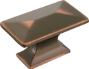 Belwith P2151-OBH Knob 1-3/4 Rect OIL RUBBED BRONZE