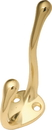 Belwith P27120-PB Hook Hat POLISHED BRASS DC