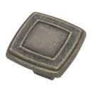 Belwith P3180-WOA Knob Square 1-7/16in WINDOVER ANT