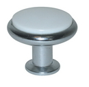 Belwith P427-26W Knob 1-3/8in CHROME And WHITE DC
