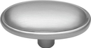 Belwith P517-SC Knob Oval 1-11/16in SATIN CHROME