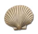 Belwith PA0112-AM Knob 1-1/2in Fan Shell ANT MIST DC