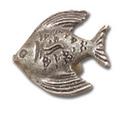 Belwith PA0115-VP Knob 1-1/2 Angel Fish VIBRA PWT DC
