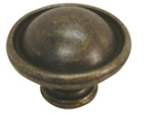 Belwith PA1214-WOA Knob 1-3/8in WINDOVER ANTIQUE DC