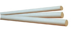 1in x 36in RED OAK Wood Dowel, Price/EA
